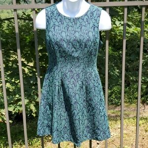Forever 21 Green and Blue Mini Dress